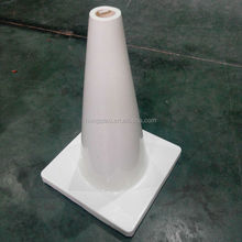 "18"" Flexible Cone Shape PVC Roadway White Traffic Safety Cone"