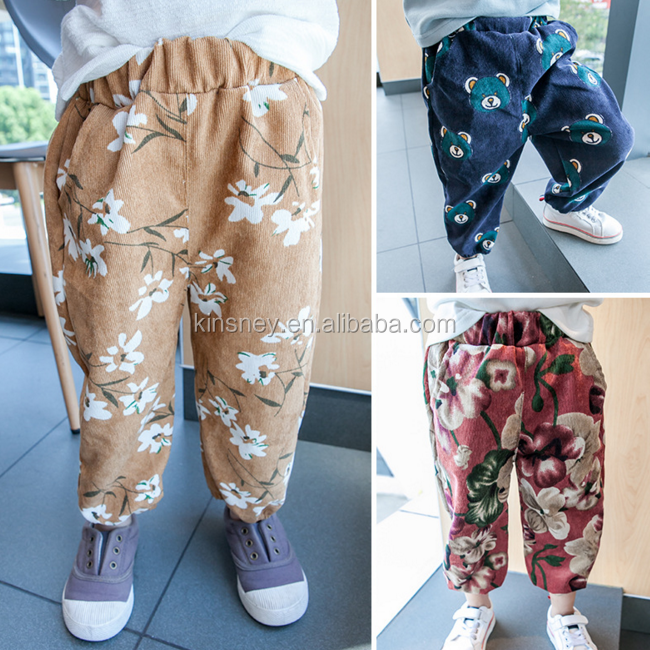 KS30212A fashion baby kids floral print bloomers wholesale/pants for kids/kids trousers