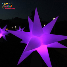 lights up three-dimensional 3D inflatable stars for garden decoration
