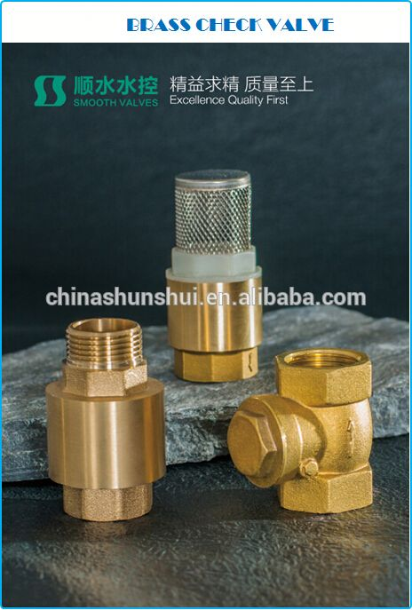 "SS60201 Brass non return valve 1/2"" 3/4"" 1"" 2"" 3"" brass check valveDuctile iron Foot Valve DN250"