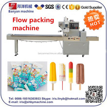 Cream Bar Stick Packaging Equipment, Pillow Lolly Pack, Automatic Ice Tube Packing Machine