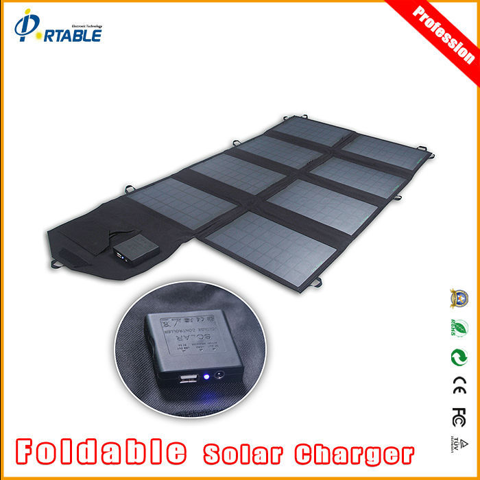 Portable Light Panels : W portable light weight solar panel charger