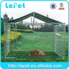 Cheap chain link dog kennels with roof cover 10'x10'x6'ft dog run