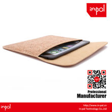 anti scratch soft felt for ipad mini magnetic real cork pouch