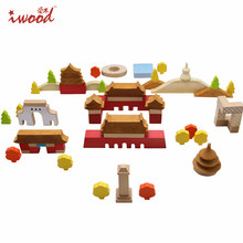 Construction Set Beech wood Wooden Gift Wooden Building Blocks