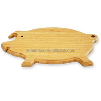 pig shape animal wooden cutting board