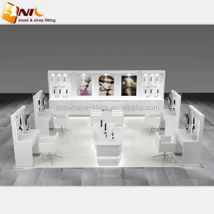Popular beauty hair salon styling stations with barber shop furniture design for sale