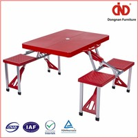 2016 Hot popular outdoor small plastic folding table