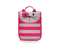 Cute cat cheap lunch bag, polyester tote lunch bag kids