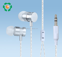 High quality metal earphone with stereo sound for fashion MP3