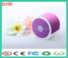 high quality D100 natural color bluetooth portable mini speaker