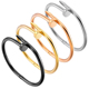 Wholesale Fashion Love Nail Bracelet Cuff Bangles for Women & Men Available in Gold Silver Rose