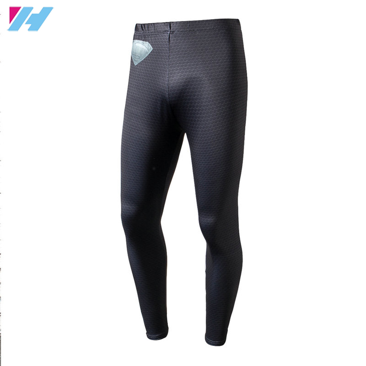 Custom Running Gym Leggings Mens Compression sports pants skin tight spandex trousers men tight leggings quick dry