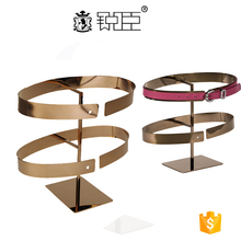 Fashion metal leather belt display stand for retail store