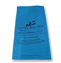 China Manufacture Blue Color Printing PP Plastic Empty Cement Bag