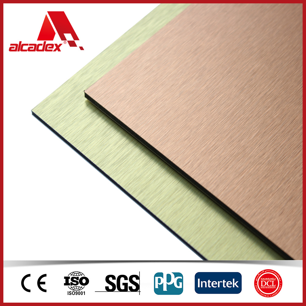 Brushed finished ACP interior wall panels for Bathroom wall cladding
