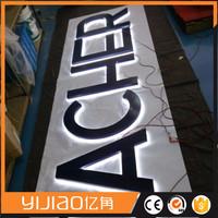 LED light up signs advertising backlit LED channel letters sign