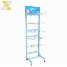 Customized Portable Iron Hook Hanging Retail Display Racks With Wheels