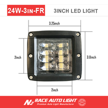 3 inch 24w Led Spot Flood cob Work Light Off Road Spotlight 4x4 jeep Cabin 4wd Suv Tractor Atv Utv Truck Work Lamp