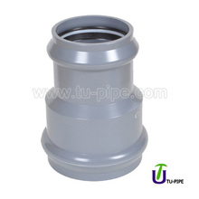 Plastic PVC fittings two faucet reducer reducing coupling couper socket joints DIN (With Rubber Ring)