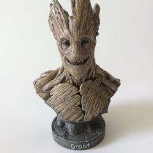 American Superhero Series Groot Movie Resin Figure Bust Statue Dancing Groot Figure