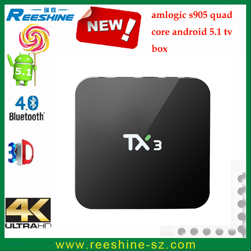 factory supply full hd 1080p tx3 android tv box amlogic s905 android 5.1 digital tv converter set top box