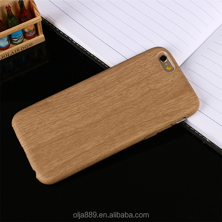 PU back cover leather case for iPhone6 plus wood case for iPhone 7
