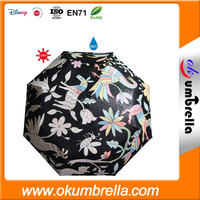 Hot custom print waterproof fabric for colour changing umbrella