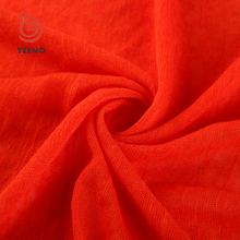 Good quality 100 polyester knit jersey fabric cloth material poly slub fabric