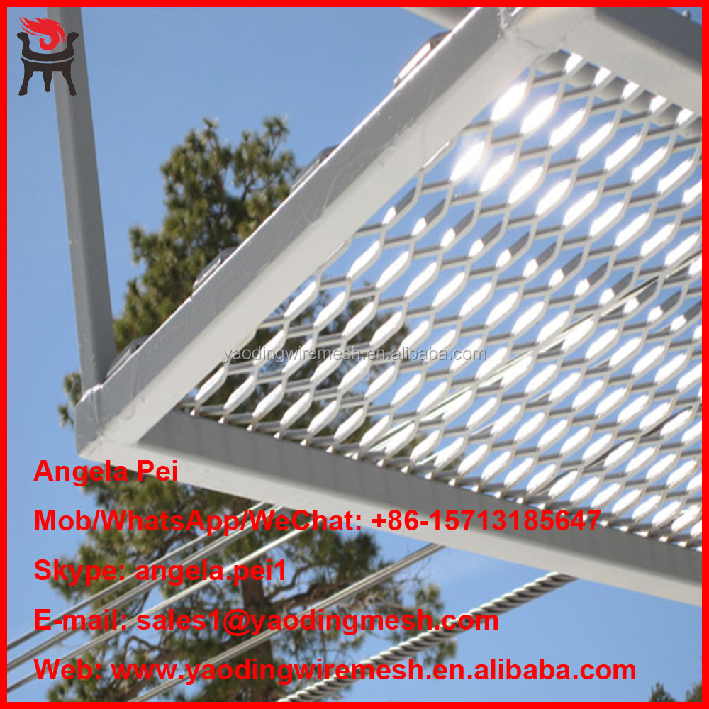 Professional flexible stainless steel diamond mesh for architectural