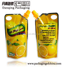 Die cut standing spouted packaging bag , injection pouch for orange juice Y1581