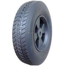 10 inch 10x2.5 plastic rim semi-pneumatic solid rubber wheel for toys, hand trucks, tool carts