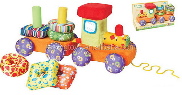 Intelligence DIY Stuffed & Plush Train&Trailer Sets Animal Baby Kids Toys
