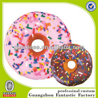2014 Comfort Microbeads Stuffed Doughnut Printing Round Pillow With Hole