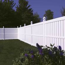 Fentech free maintanence UV protection vinyl pvc white plastic fence boards