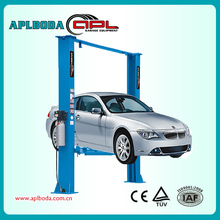 CE approved single side handle release car lift Two Post Lift ) cheap 2 post car lift