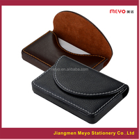 Custom Company Logo PU leather business card holder, business name card wallet