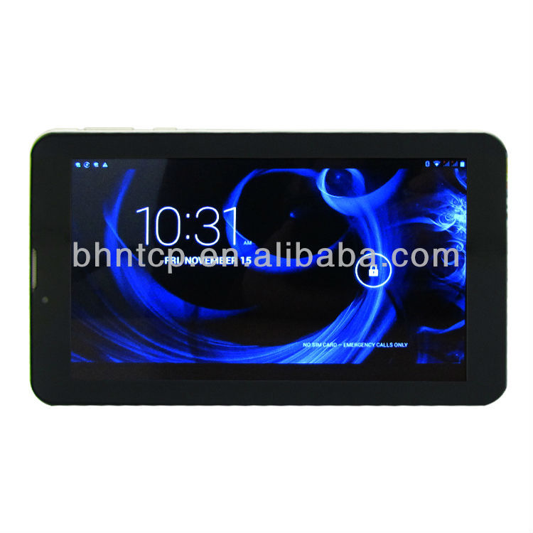 BHNKT88 7 inch HD Capacitive touch screen Pad Dual core Dual Sim Bluetooth GPS built in 2G WIFI