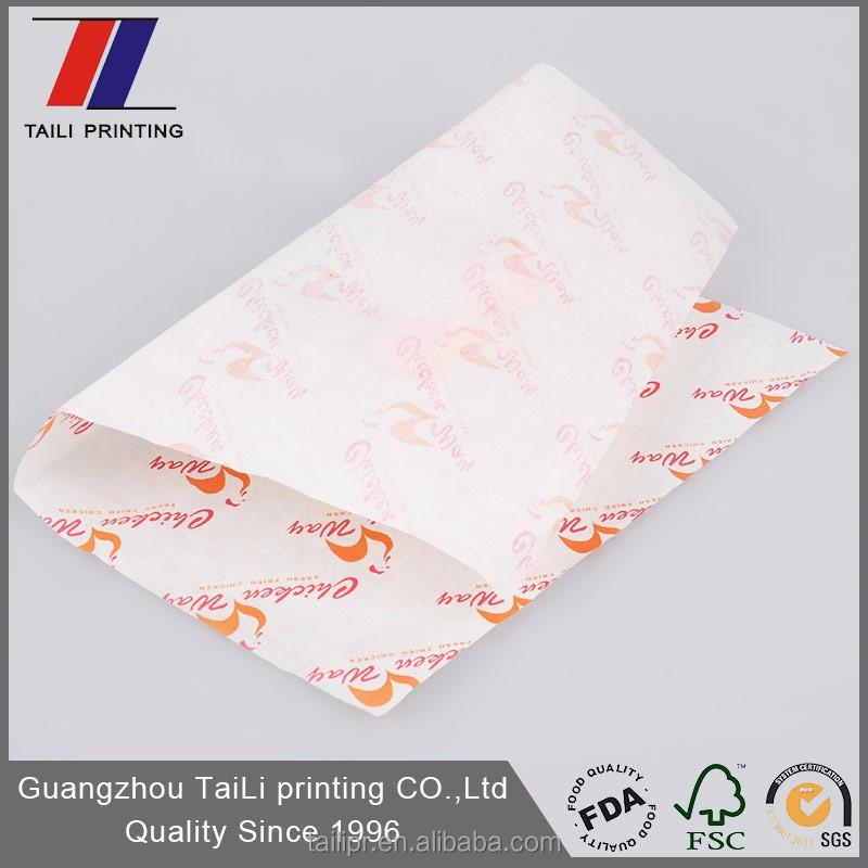Food grade custom printed wax paper