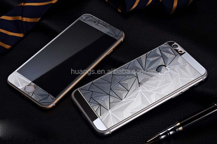 Luxury 3d Diamond style tempered glass screen protector both sides front and back cover for iphone factory price