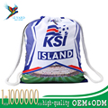 Factory wholesales mesh polyester iceland canvas custom logo soccer event sling bags