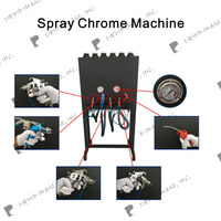 liquid image LYH-CPSM106 Chrome spray paint machine, Spectra chrome paint for car parts and motorcycle parts