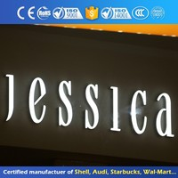 Wholesale decorative galvanized metal 3d letters for advertising OEM