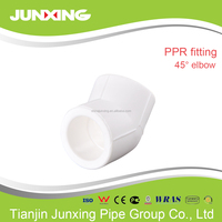 all types of PPR pipe fitting for cold and hot water 45 elbow