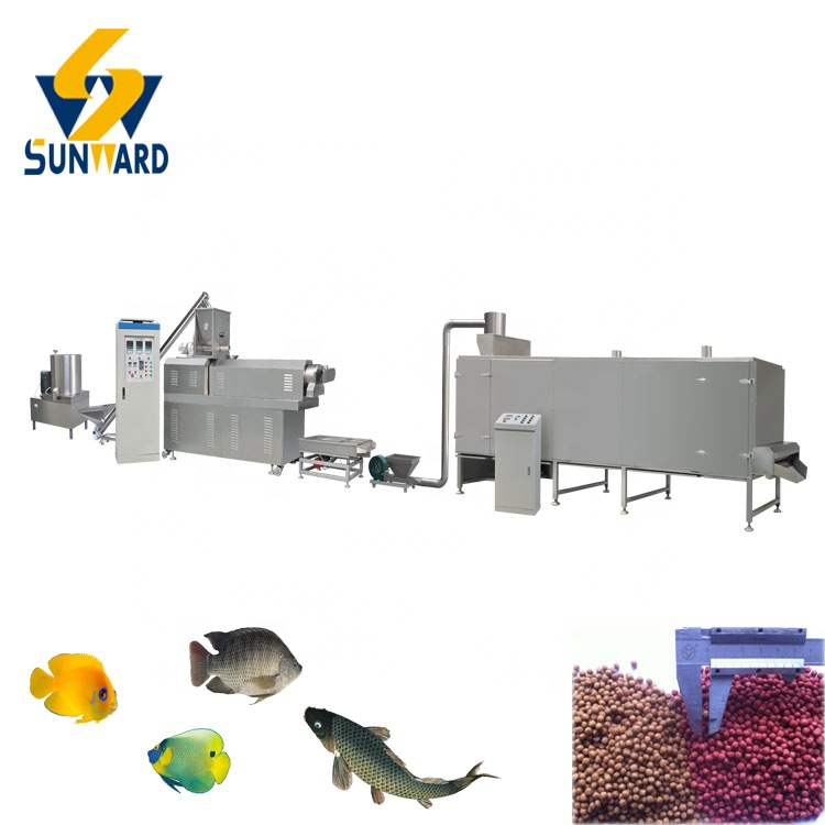 Floating feed pellet extruder  fish food machine with ISO 9001 Certification