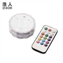 Waterproof Wedding Party Vase Lamp Remote Control submersible tea lights