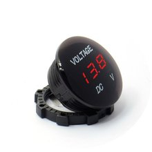 DC 12V-24V Universal Digital Display Voltmeter Waterproof with Blue LED for Car Motorcycle Auto Truck