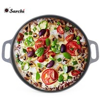 Wholesale 14 inch Round Cast Iron Pizza Pan