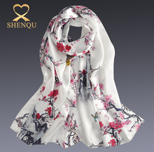 Hot sell printed machine hemming 100% silk women summer scarfs and shawls 2017 fashion pashmina arab scarf