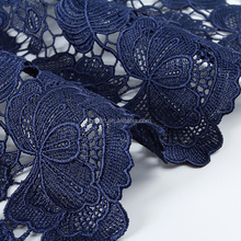 fashion colourful variety sample royal blue flower embroidered wedding dress making net fabric